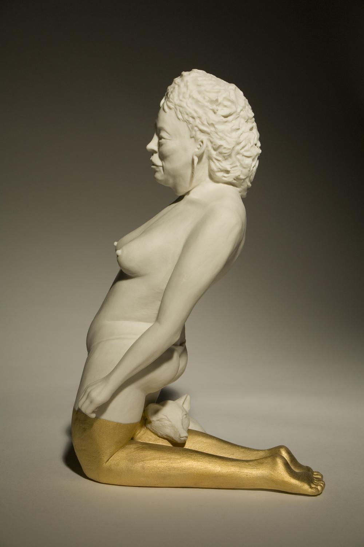 Frau mit Fuchs2010 H: 20 cm sold