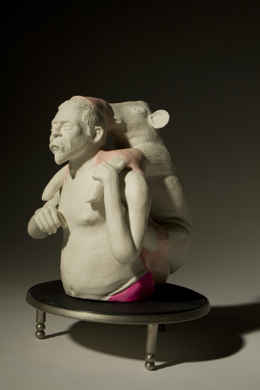 Mann mit Wildschwein 2011 H: 16 cm