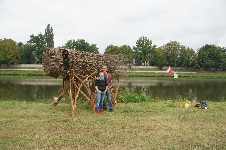 Landart festival Opole, Polen 2012 with Piotr Wesołowski