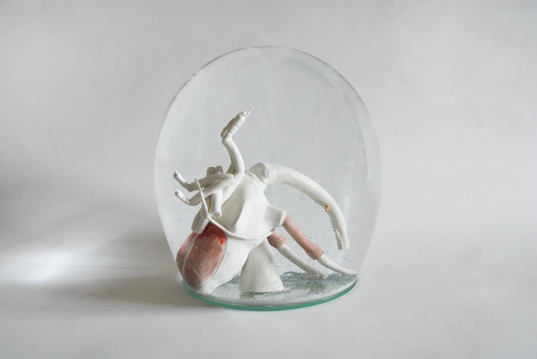Käfer mit Krücken 2008 H: 30 cm sold
