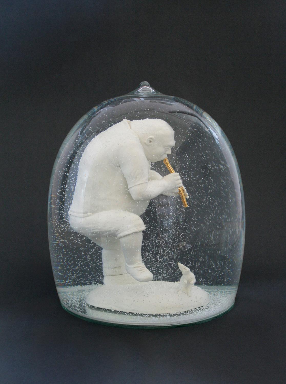 Flötenspieler 2009 H: 27 cm sold